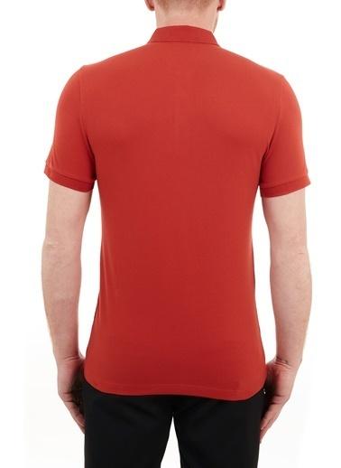 Hugo Boss  Slim Fit Pamuklu Düğmeli Polo T Shirt Erkek Polo 50378334 610 Kiremit